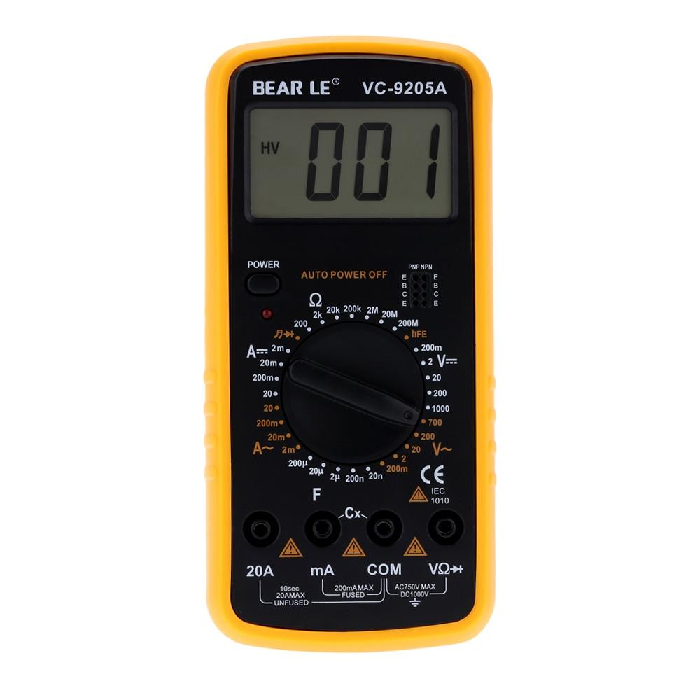 portable multimetro digital electrical multimeter ammeter voltmeter ohmmeter capacimeter tester. Black Bedroom Furniture Sets. Home Design Ideas