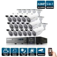 16CH AHD NVR 5mp 4mp 3g DVR комплект видеонаблюдения системы 16 4,0 Мп Крытый открытый безопасности камера комплект 16 каналов наборы
