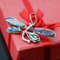 New Fashion high-quality 25*54mm Natural Abalone seashells butterfly crafts pendant jewelry making design women gifts Series