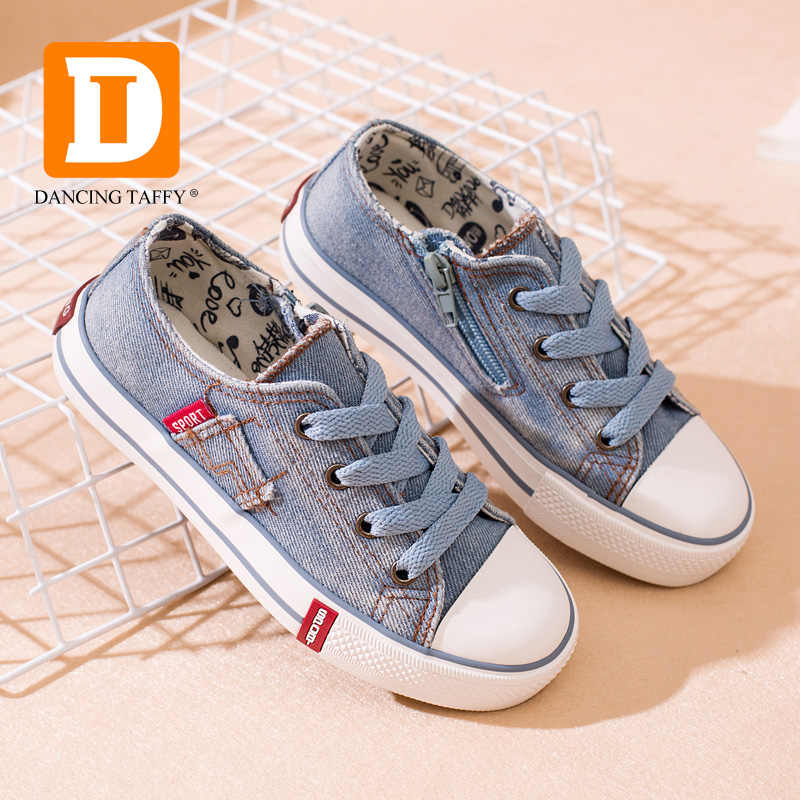 5cded11ecd2d ... Denim Jeans Children Shoes Canvas Kids Shoes New 2019 Spring Brand  Fashion Zip Breathable Casual Rubber ...