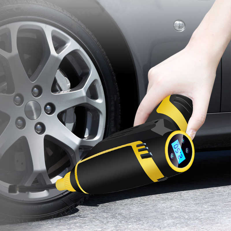 Digital LED Smart Car Air Compressor Pump Portable Handheld Car Tire Inflator Electric Air Pump 150 PSI Repair Tool Accessories