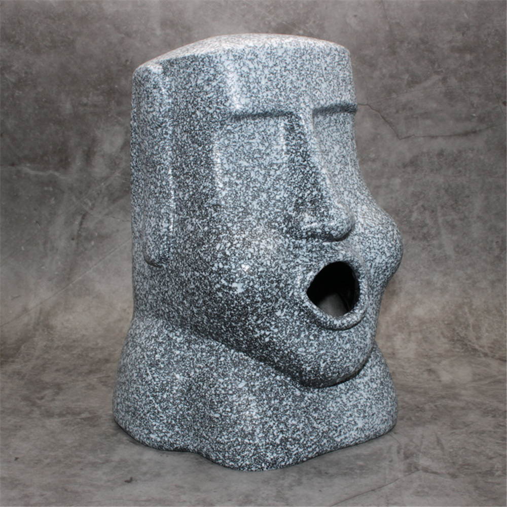 Resin Easter Island Stone Tissue Box Household Paper Towel Pumping Creatives Stone Portrait for Easter Day Decoration in Other Bar Tools from Home Garden