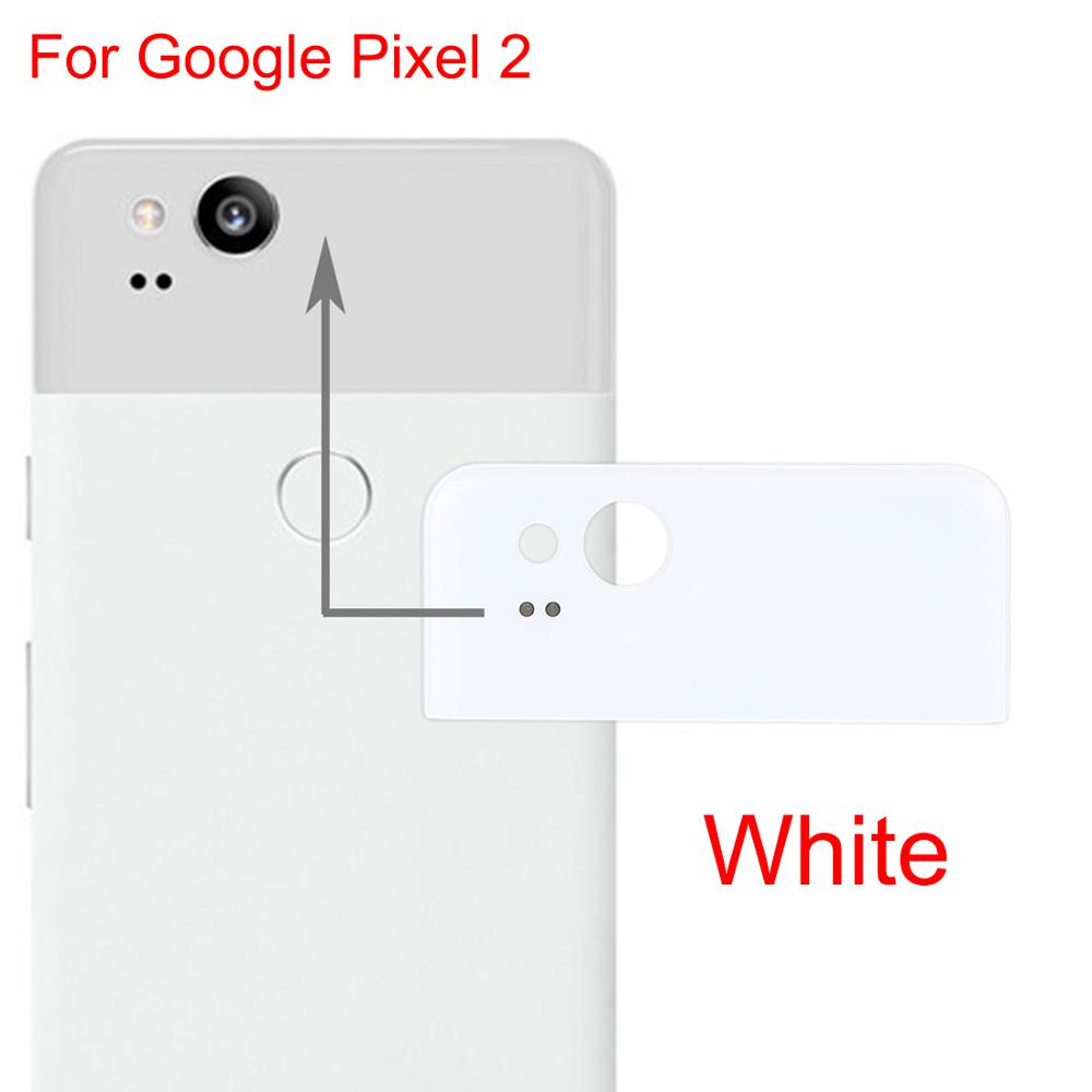 New For Google Pixel 2 Back Cover Top  Glass Rear Housing Replacement Spare Parts