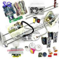 Kit DIY de máquina de grúa de garra con lcd PCB/palanca de mando de garra de grúa/intermitente joystick/botones intermitentes/2 aceptadores de monedas/altavoz