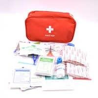 161 unidades/pacote kit de primeiros socorros portátil saco de sobrevivência médica mini saco de emergência para o carro casa piquenique acampamento viajando ao ar livre