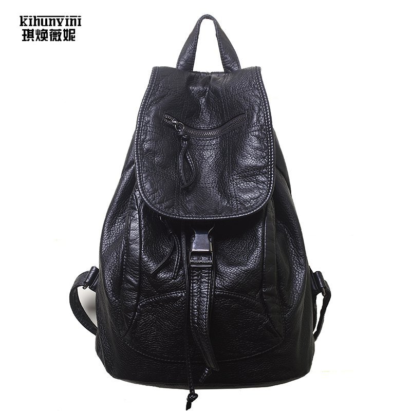 Women's Backpacks PU Leather Students School Bags Teenagers Girls Fashion Backpack Women Travel Bag Mochila New Bolsas Femininas 2017 new women leather backpacks students school bags for girls teenagers travel rucksack mochila candy color small shoulder bag