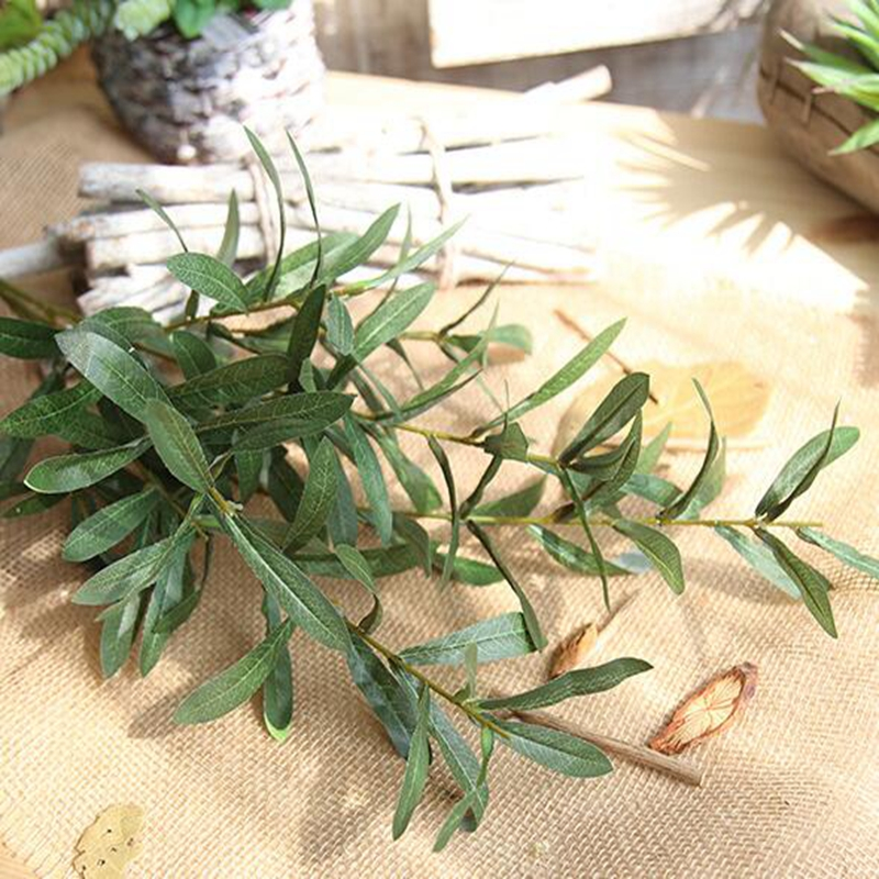 20 Pcs 103cm Artificial Plants Olive Tree Branches Leaf Home Decoration Accessories European Olive Leaves for Hotel and Wedding