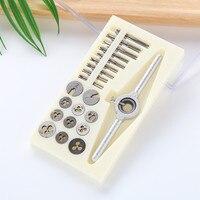 31Pcs/Set Mini HSS Metric Thread Plugs Taps Wrench M1/M1.1/M1.2/M1.4/M1.6/M1.8/M2/M2.2 /M2.5 Screw New Handle Tap Set
