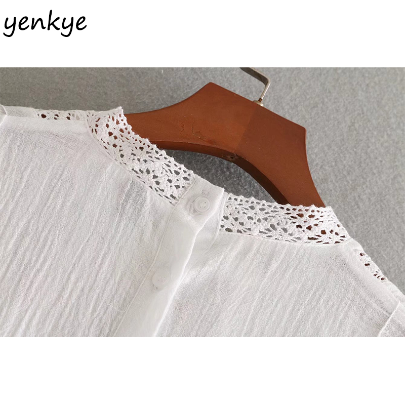 504ce93e7f1 Fashion Women Sweet Floral Embroidery Blouse Stand Collar Long Sleeve  Pullover White Shirt Brand Summer Tops BBWM8097 -in Blouses   Shirts from  Women s ...