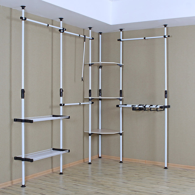 Pipe Metal Simple Wardrobe Cloth Cabinets Cloakroom Diy Fabric Storage Closet Disembly