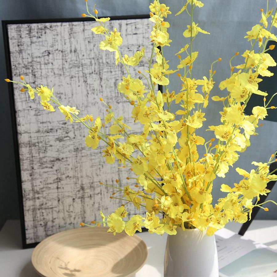 100cm Beautiful Pink White Yellow Jasmine Artificial Flower Silk