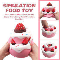 Cake Toy Strawberry Cake Toy Stress Reduction Party Fashion Novelty April Fool'S Day Relax Funny PU Multicolor Entertainment
