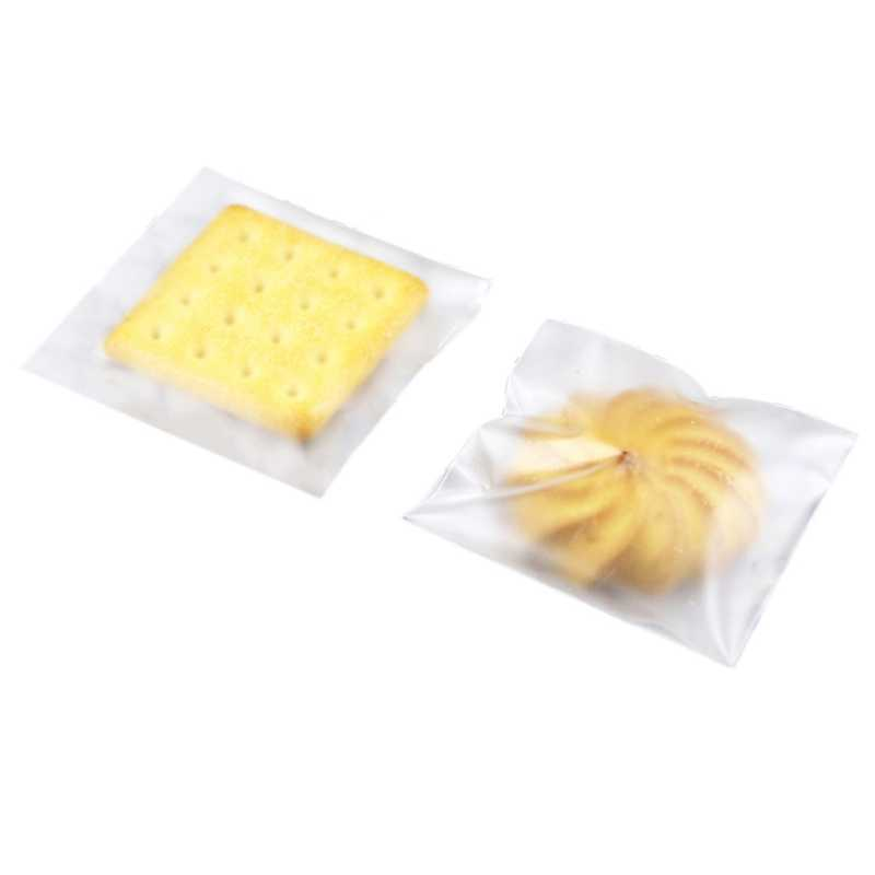 100PCS Transparent Cookie Candy Bag Wedding Party Supplies Gift Bag Biscuits Snack Baking Packaging Self-Adhesive Plastic Bag