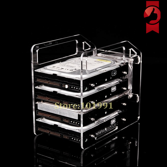 NEW ARRIVALS  Transparent Hard Disk Extension Rack--3.5inch Desktop Computer External Hard Drives HDD Hard Disk Drives Cage