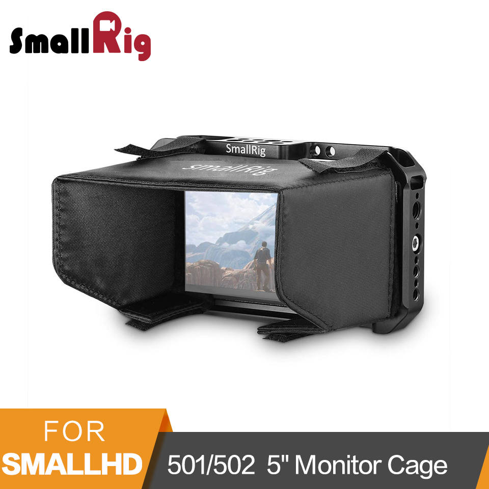 SmallRig Monitor Cage with Sun Hood Shade for SmallHD 501/502 5