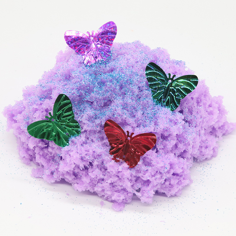 110G Wire Mud Butterfly Silk The History Of Mud Lime Slime Thousand Long Constantly Feel Very Cotton Drawing toys Plasticine in Modeling Clay from Toys Hobbies