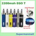 Красочные 2200 мАч эго II электронная сигарета эго се5 стартовый комплект эго II 2200 мАч аккумулятор CE4 се5 mt3 электронной сигареты с зарядным устройством