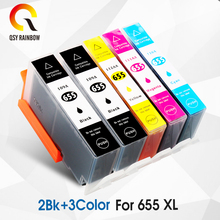 CMYK SUPPLIES 5 Compatible Ink Cartridge for hp 655 Black cyan magenta yellow for Deskjet 3525 4615 4625 5525 6520 6525 6625 lcl 707 crg707 4 pack black cyan magenta yellow toner cartridge compatible for canon i sensys lbp5000 5100