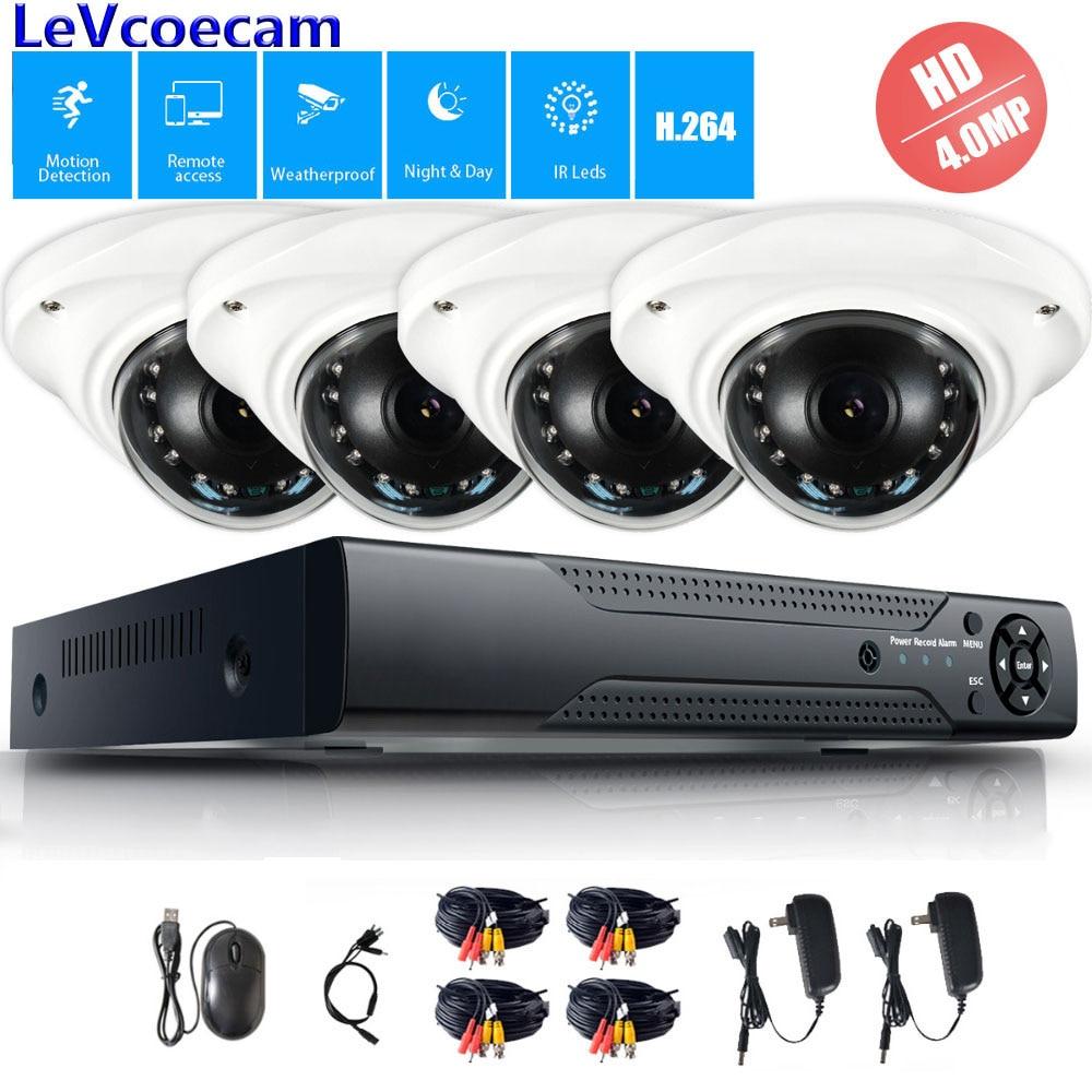 4CH 4.0MP Vidéo Système de Sécurité 4.0MP caméra ahd DVR Kit CCTV Extérieur Étanche Dôme de Surveillance Ir-cut Caméra Kit