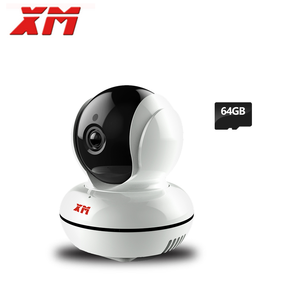 XM 960P 1.3MP +64GB SD Card WiFi Wireless IP Camera Home Security Camera Night Vision Infrared P2P Two Way Audio Baby Mini Camer howell wireless security hd 960p wifi ip camera p2p pan tilt motion detection video baby monitor 2 way audio and ir night vision
