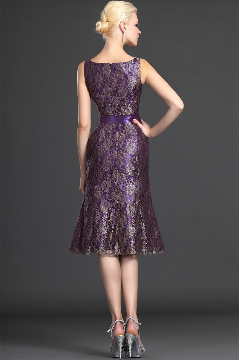 A-line-knee-length-three-quarter-short-lace-purple-gorgrous-plus-size-wedding-guest-outfits-purple