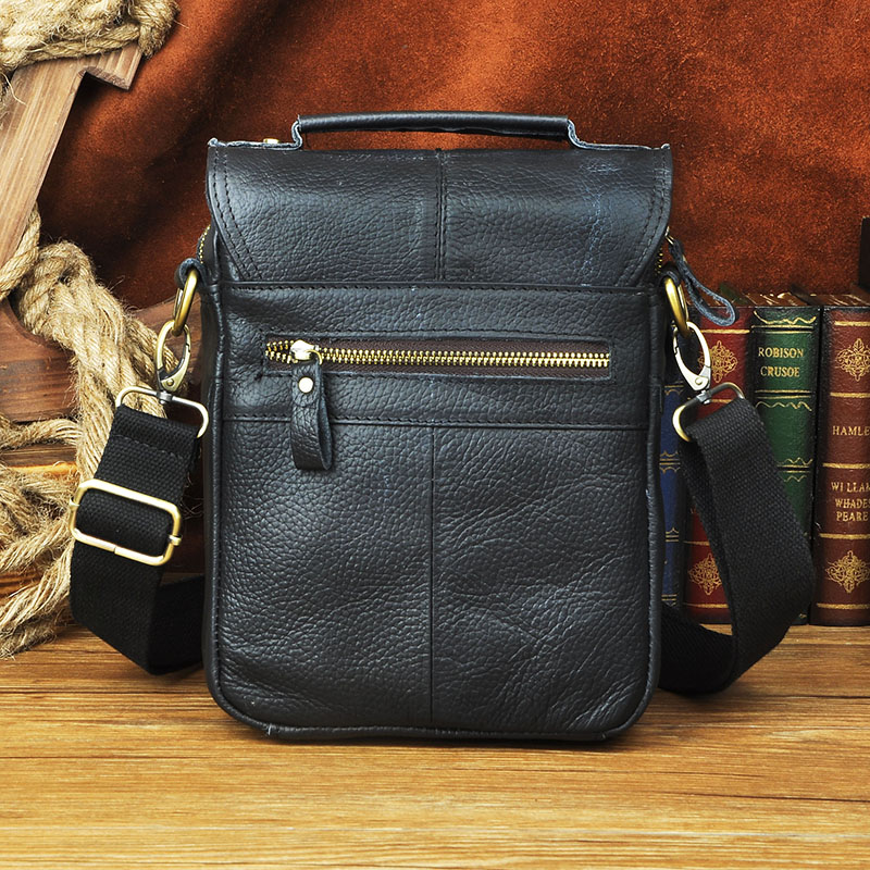 Original Leather Male Fashion Casual Tote Messenger bag Designer Satchel  Crossbody One Shoulder bag 8