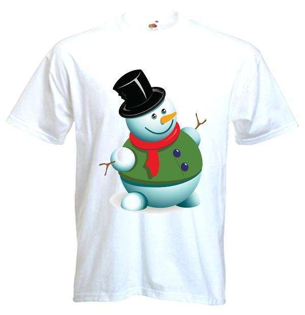 SNOWMAN T-SHIRT - Present Gift Xmas Christmas Novelty Cute Funny - Sizes S-3XL Comical Shirts MenS