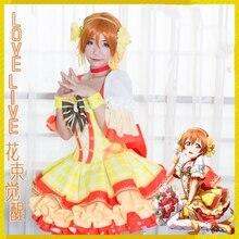 LoveLive! Hoshizora Rin Bouquet Flower Awaken Cosplay Costume Lolita Dress Halloween Adult Costumes for Women Anime