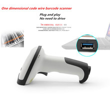 NEW laser wired 1D barcode scanner barcode reader bar code reader handheld USB Cable for Supermarket for POS Plug and play usb wired auto induction laser car code scanner black grey