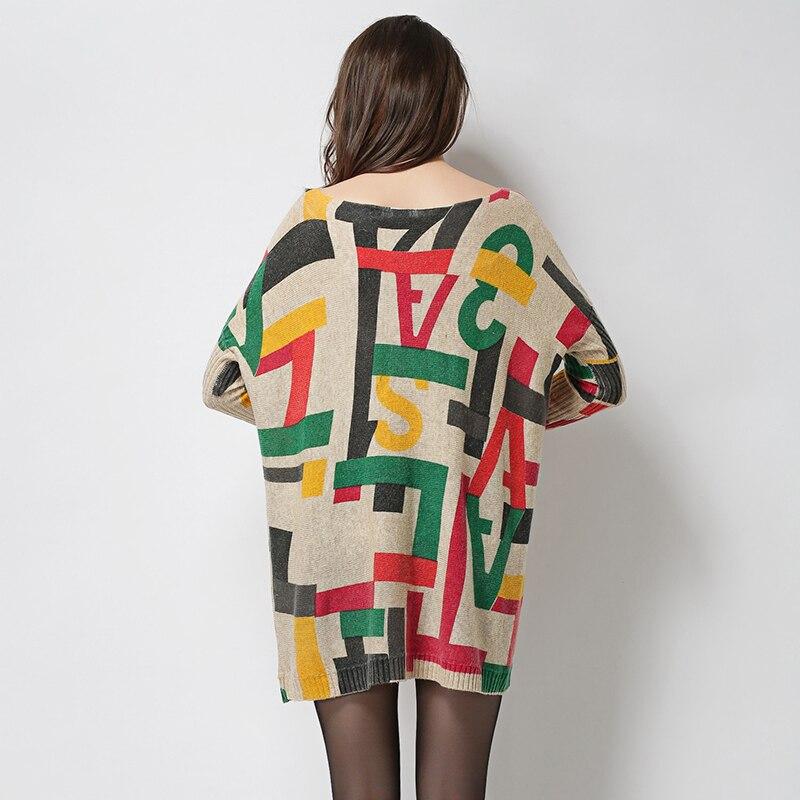 Jielur 2019 Winter Herbst Brief gedruckt übergroßen Pullover für - Damenbekleidung - Foto 4