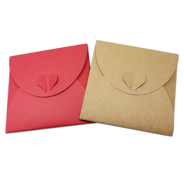1313cm 50pcs Lot Kraft Paper Disc CD Sleeve Package Bag Cover DVD Packaging Craft Envelopes Gift Pouch For Party Wedding Favor