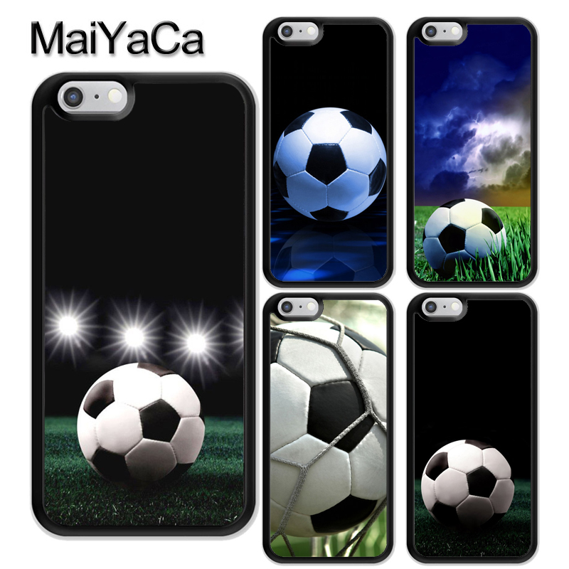MaiYaCa football soccer ball Pattern Soft Rubber Phone Cases For iPhone 6 6S Plus 7 8 Plus X 5 5S SE Cover Bags Skin Shell