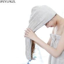 JPZYLFKZL  Soft Women Bathroom Super Absorbent Quick-drying Microfiber Bath Towel Hair Dry Cap Salon 25x65cm Hat