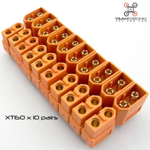 NEW 10 Pairs Yellow XT60 Male & Female Bullet Connectors Plugs for RC LiPo Battery of Quadcopter Multicopter