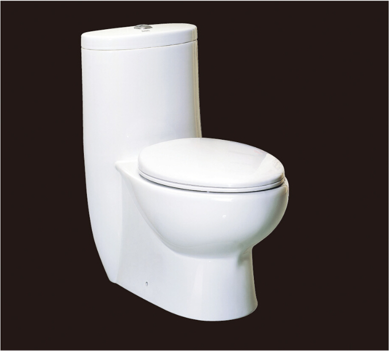 2016 new style water closet one piece S-trap ceramic toilets with PVC Adaptor and soft close seat cover AST309 UPC cerificate