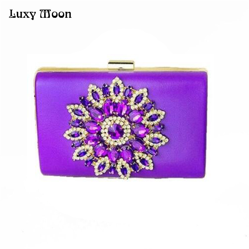 Sunflower Diamond Evening Bags Red Crystal Clutch Bag 2017 Women Bag Purses And Handbags Wedding ...