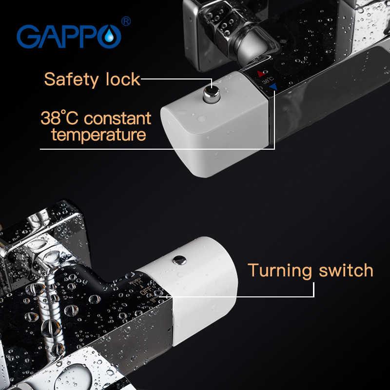 GAPPO baterie prysznicowe wanna termostatyczna prysznic zestaw wanna termostatyczna prysznic wodospad Słuchawki prysznicowe