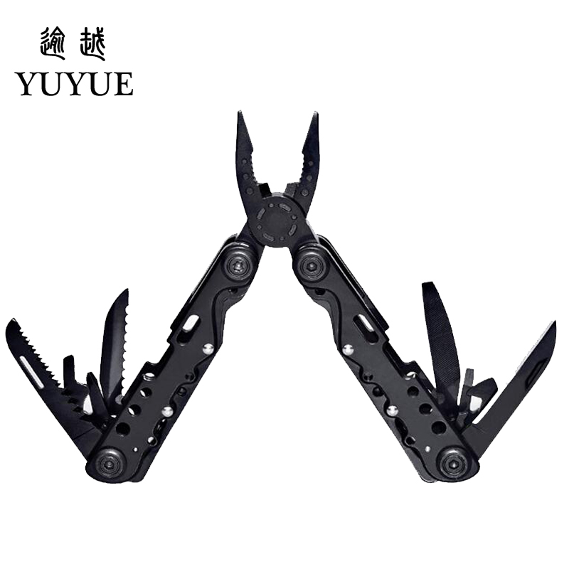 Multifunction forceps Pincer Pliers Bottle Opener Screwdriver Travel Poket Multi Tools 13 Functions Outdoor Camping Equipment  2