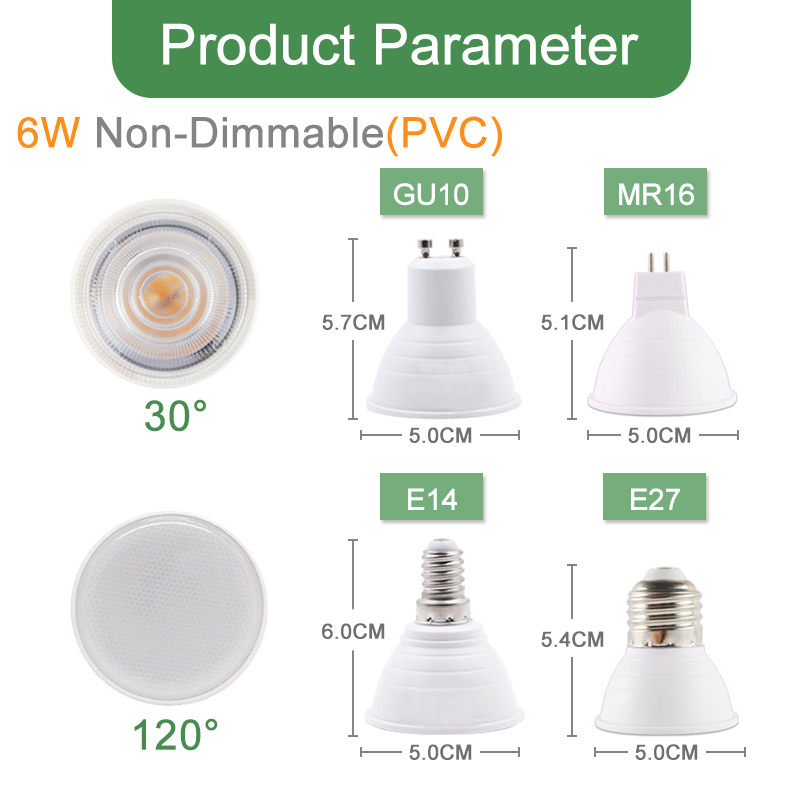 Image 3 - Kaguyahime Dimmable LED Spotlight Led Lamp MR16 E27 GU10 GU5.3 MR11 6W 7W 8W 220V DC 12V Spot LED Bulb Light Lampada Bombillas-in LED Bulbs & Tubes from Lights & Lighting