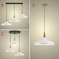 White Pendant Light For Kitchen Island Office Modern Ceiling Lamp Wood Pendant Lamps Bar Large Lighting Fixtures Bedroom Lights