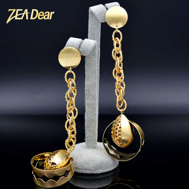 ZEADear Jewelry Trendy Jewelry Big Earrings For Women Long Drop Dangle Earrings For Party Birthday Water Drop Jewelry Findings