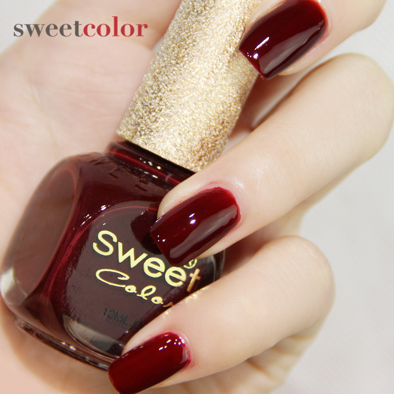 Sweet Color Nail Polish Red Wine Was White Dark Lonely