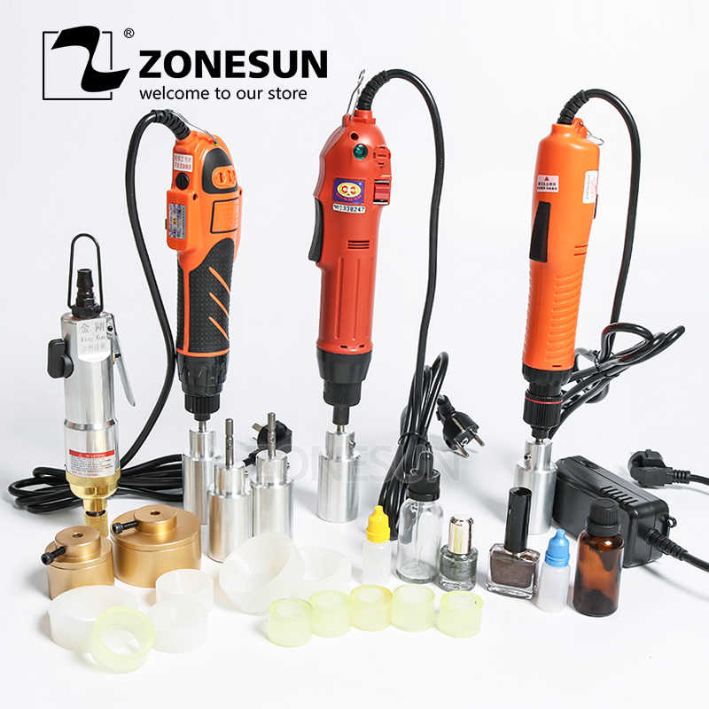 ZONESUN Optional Mix Up Capping Maschine Tragbare Automatische Elektrische Mit Sicherheit Ring Flasche Capper
