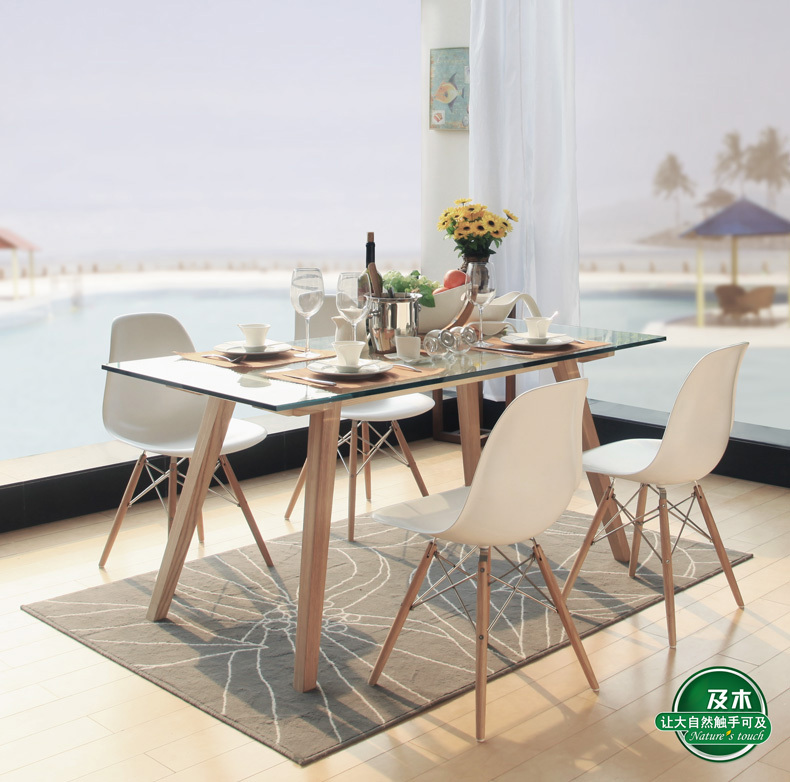 And Wood Furniture Modern Minimalist Nordic Rectangular Gl Dining Table Solid Cz007a Creative In Tables From On