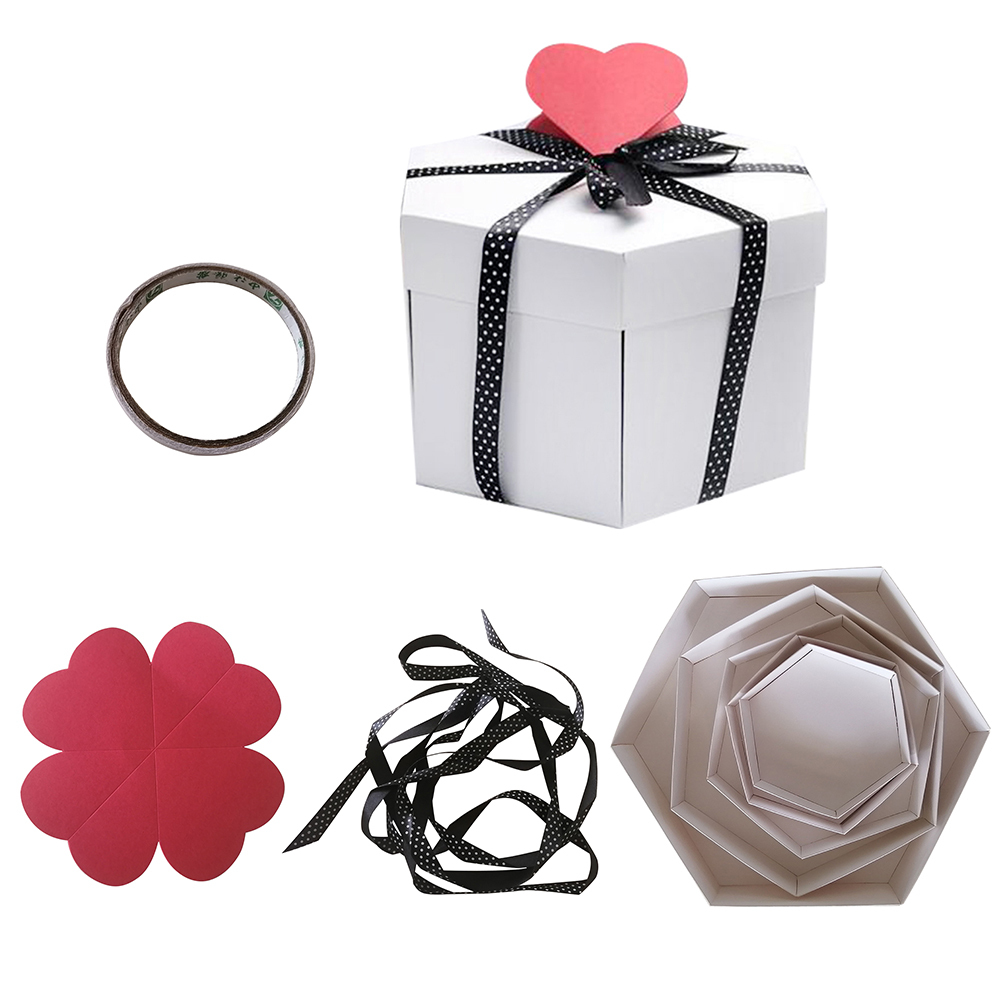 Valentine's Day Present DIY Explosion Box Gift Box Surprise Love Gift for Anniversary Scrapbook DIY Photo Album Birthday Romatic(China)
