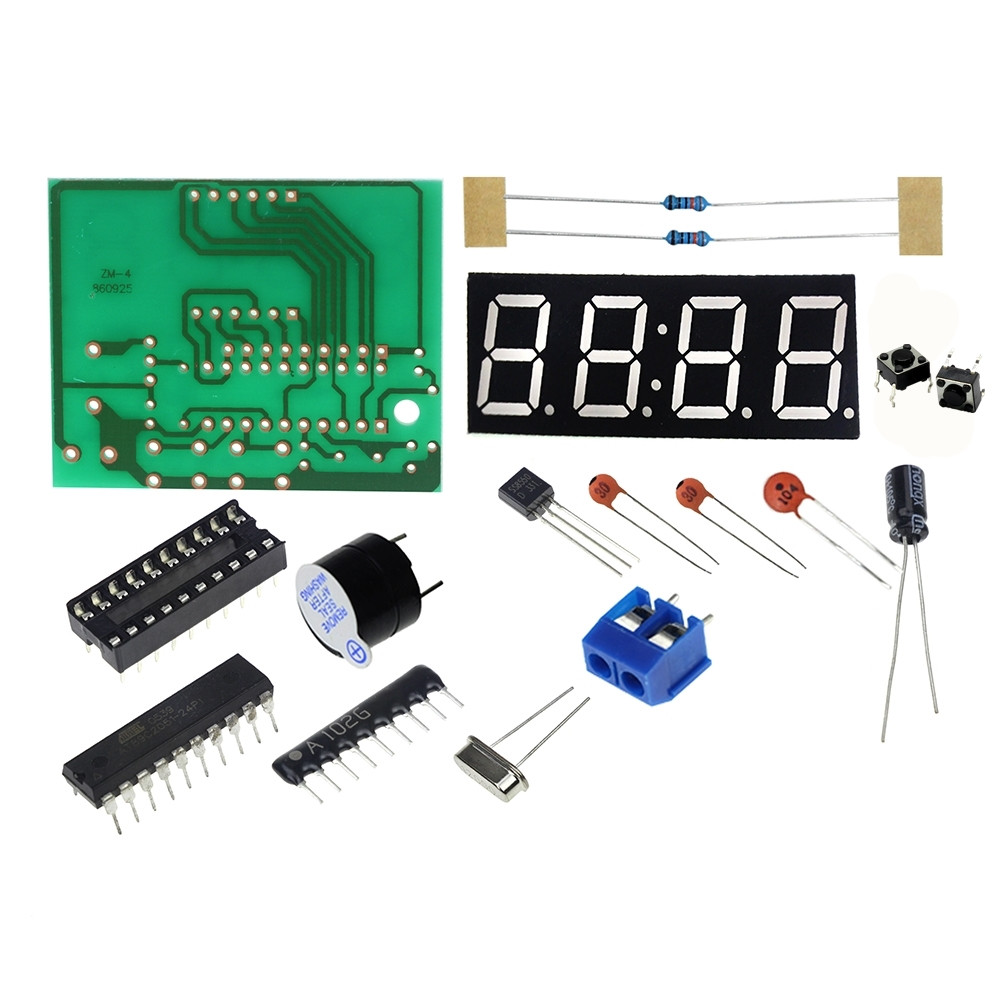 Smart Electronics 1set Digital Electronic C51 4 Bits Clock Electronic Production Suite DIY Kits