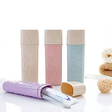 Portable Flower Carved Case Toothbrush Cover Holder Outdoor Travel Camping Toothbrush Case Storage Box Bathroom storage supplies(China)