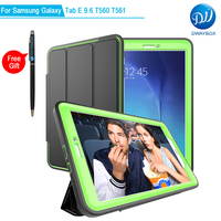 DWAYBOX Full Body Case For Samsung Galaxy Tab E 9.6 T560 Detachable PU Leather Multi Angle Protective Magnetic Folio Smart Cover