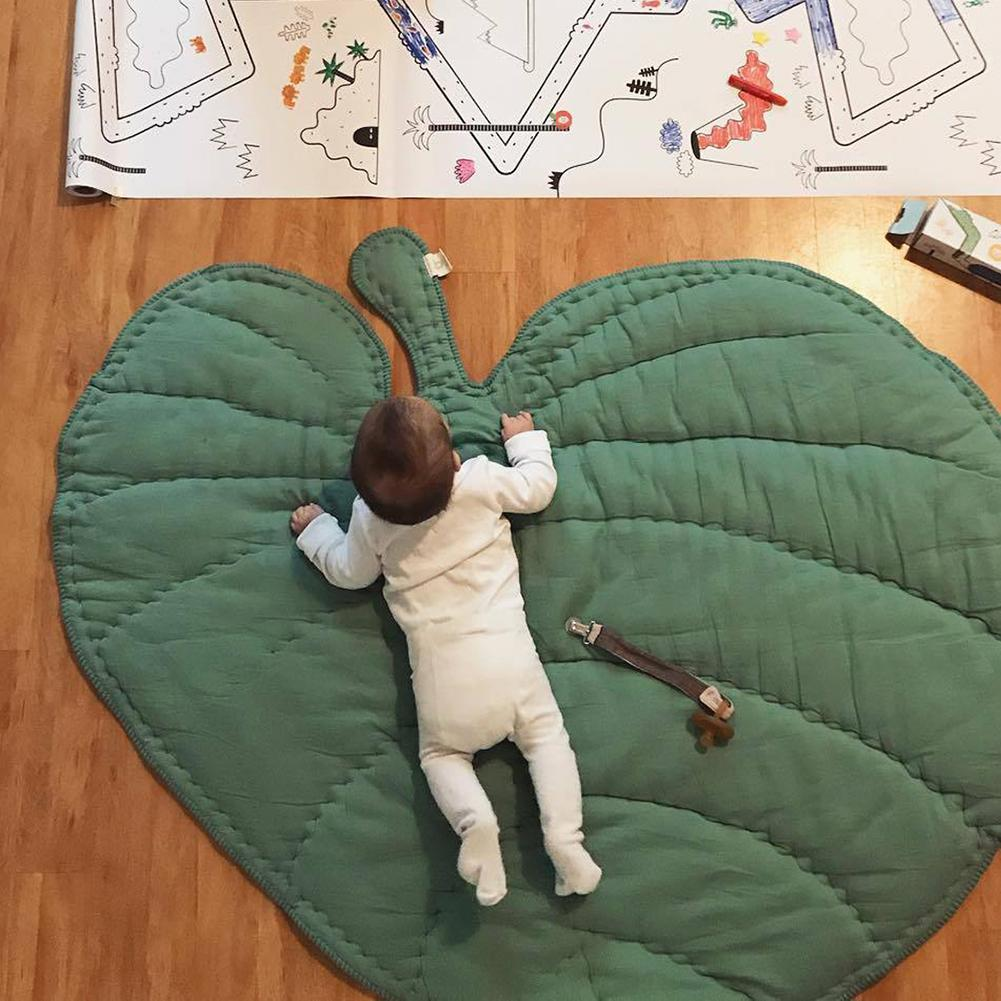 110cm Baby Infant Soft Cotton Crawling Mat Leaf Shaped Blanket Sleeping Rug Room Decoration Hot