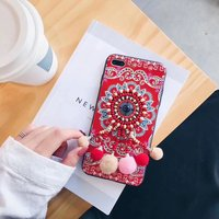 3D Pearl Lace Flower Sexy Fashion Mobile Phone Case For IPhone7 7Plus 6 6S 6Plus Protective